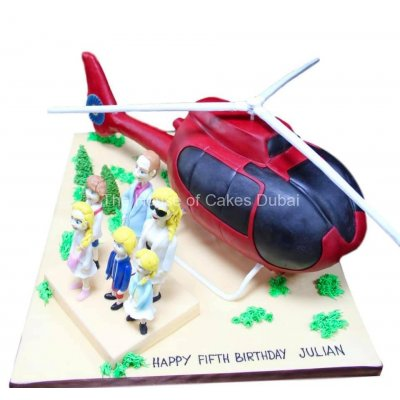 3D helicopter and family cake
