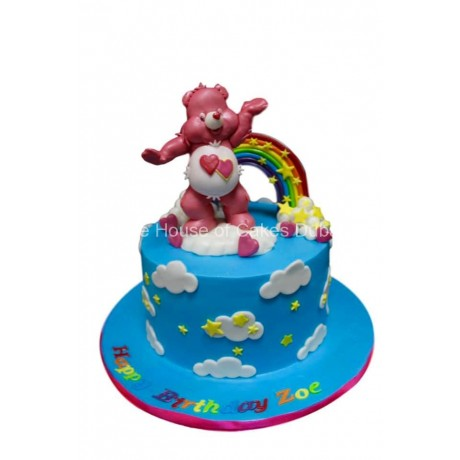 Bear and rainbow cake