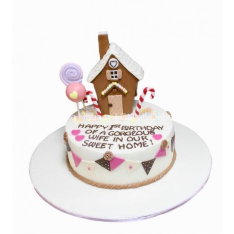 gingerbread house cake 6