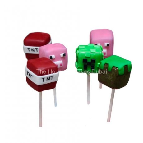 TNT and Minecraft cake pops