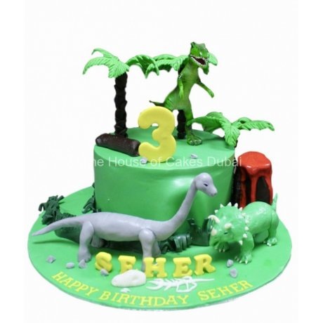dinosaurs theme cake 3 6