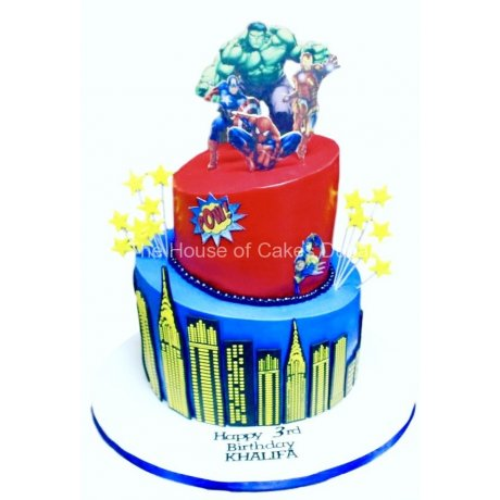superheroes cake 24 6