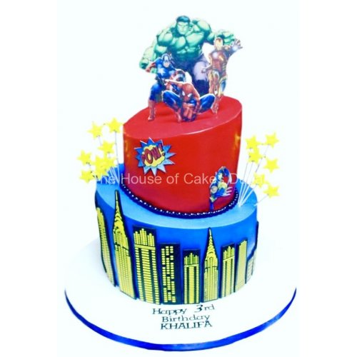 superheroes cake 24 7