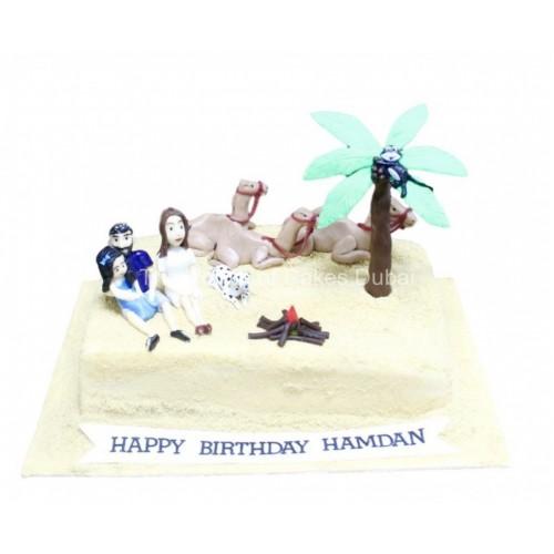 family in desert cake 7