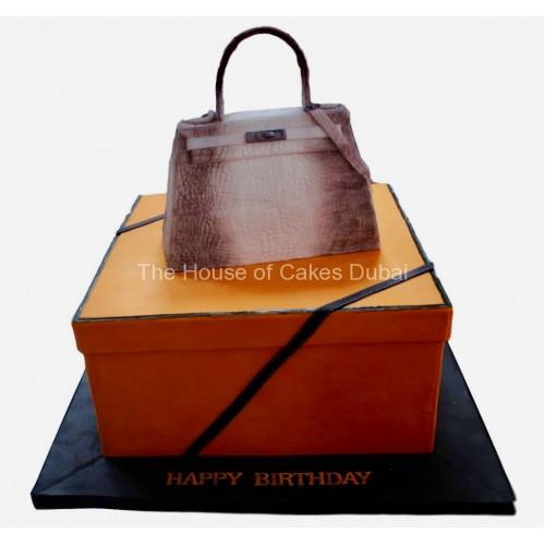 Hermes bag cake 3