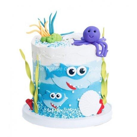 baby shark cake 3 6