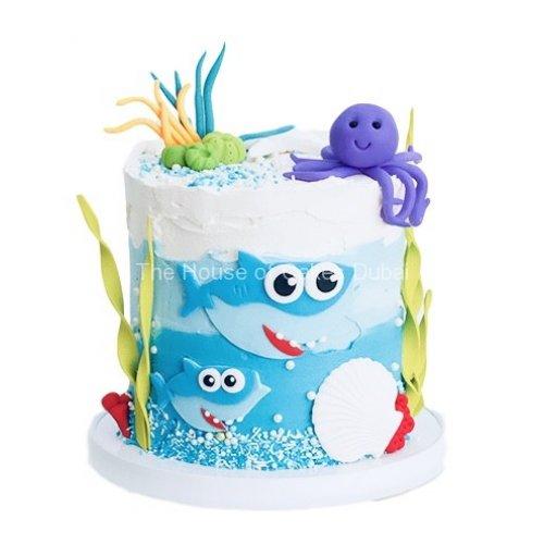 Baby shark cake 3
