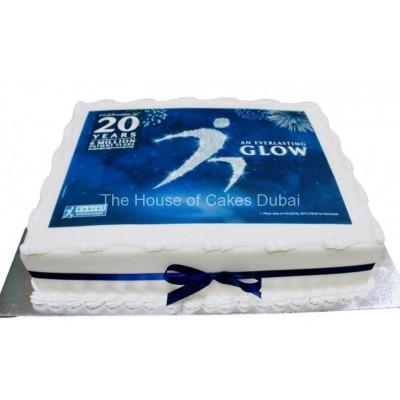 Cake with company logo 2