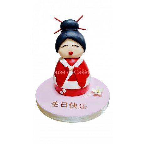 3D Geisha cake