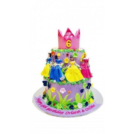 disney princesses cake 6 6