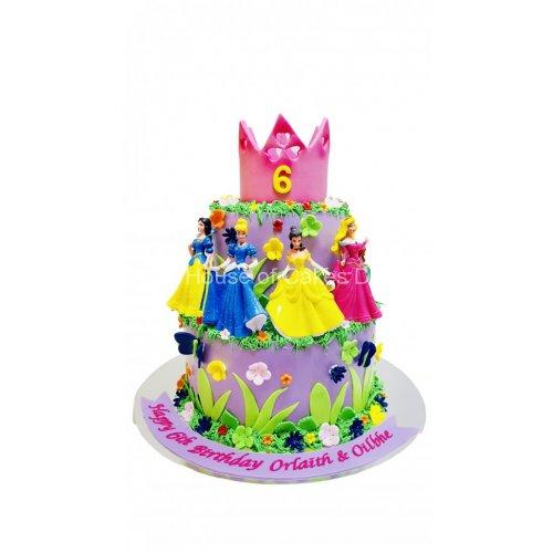 disney princesses cake 6 7