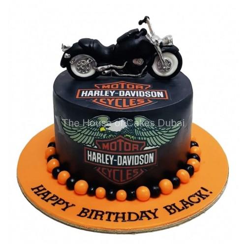 Pleasant Harley Davidson Cake 7 Funny Birthday Cards Online Necthendildamsfinfo