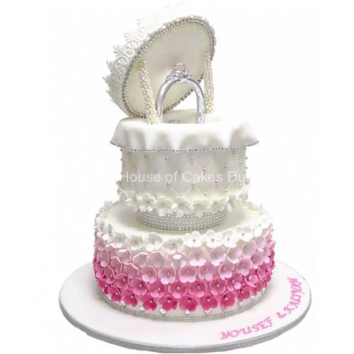 engagement ring cake 12 10