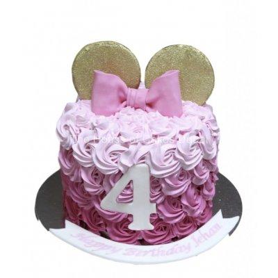 Minnie Mouse Cake Pink cream Cake