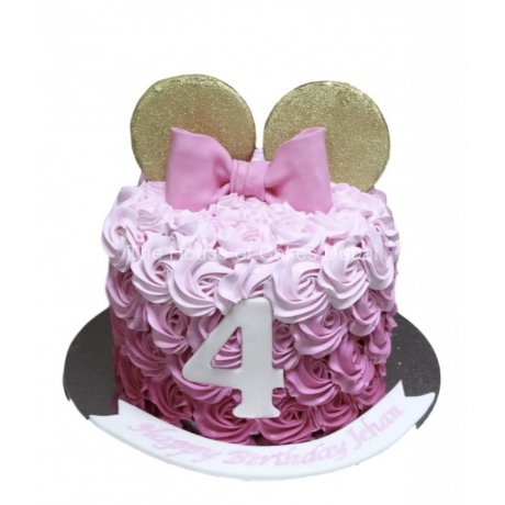 minnie mouse cake pink cream cake 6