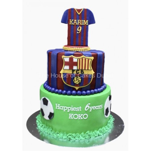 Barcelona Football theme Cake 20