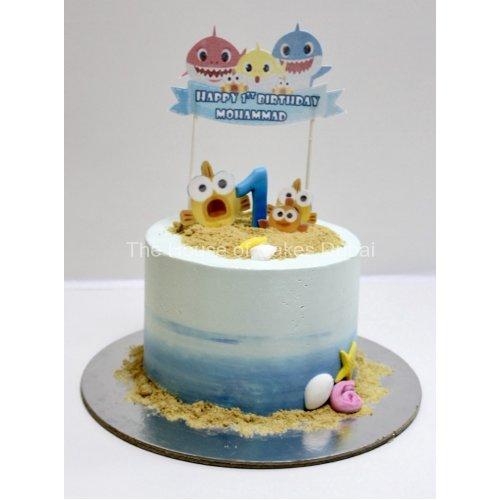 baby shark cake 6 7