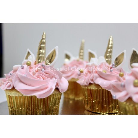 Pink unicorn cupcakes
