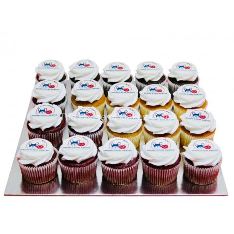 cupcakes with logo 3 6
