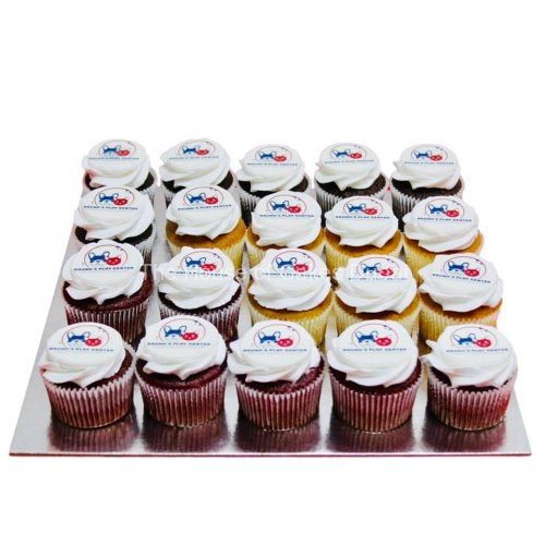 cupcakes with logo 3 7