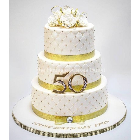 Gold and white cake 7