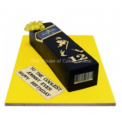 black label johnny walker whisky bottle cake 7