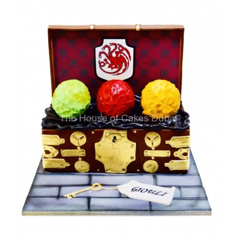 game of thrones - dragons eggs box cake 6