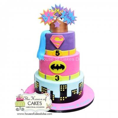 Girl Power! Supergirl cake