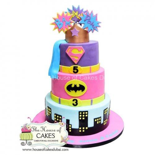 girl power! supergirl cake 8