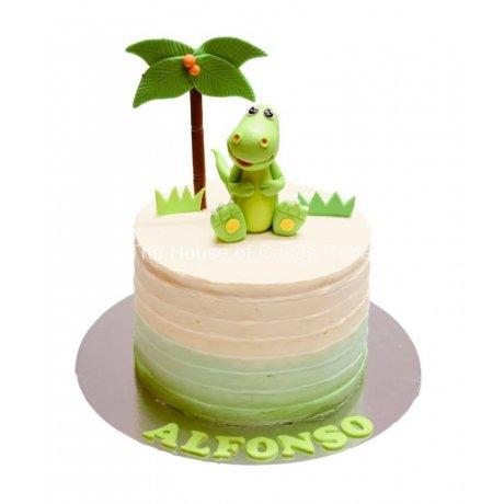 Cute dinosaur cake 2