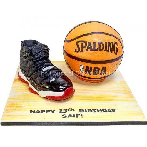 air jordan 11 shoe and nba basketball cake 8