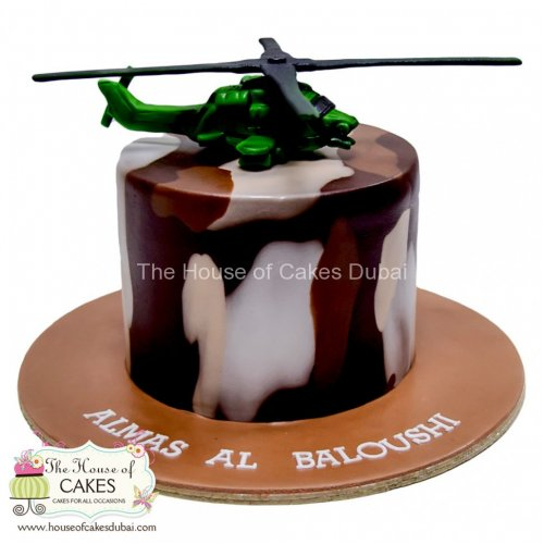Cake with helicopter