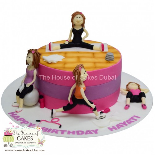 Working out fitness theme cake for her