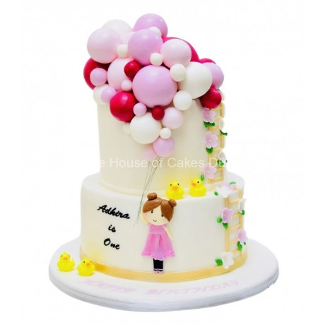 girl with balloons cake 2 6
