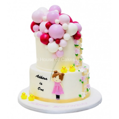 girl with balloons cake 2 7