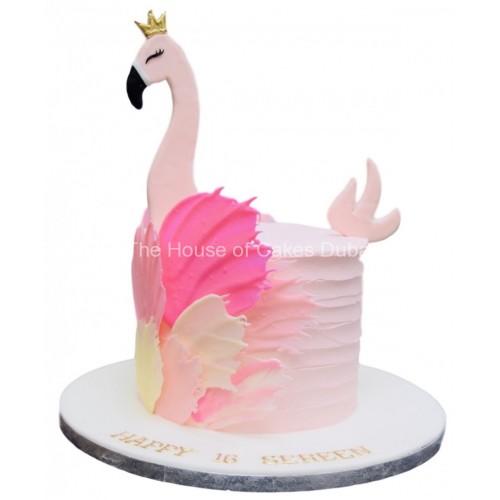 Flamingo cake 8