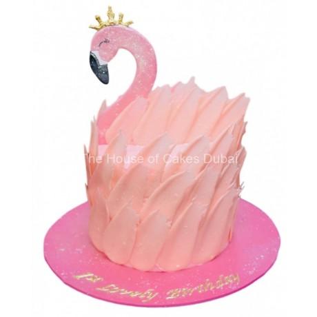 flamingo cake 9 6