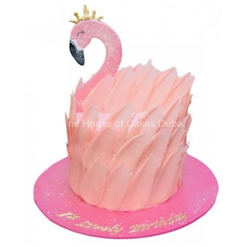 flamingo cake 9 7