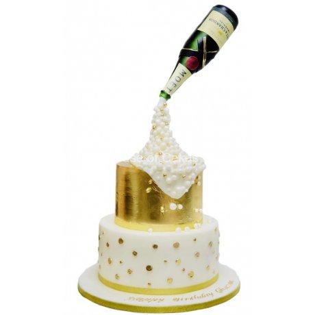 Champagne bottle cake 4