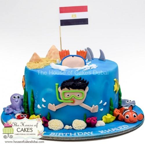 diver cake 6 7