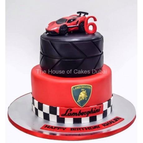 lamborghini theme cake 6