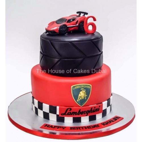 lamborghini theme cake 7