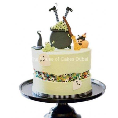 fault line halloween cake 13