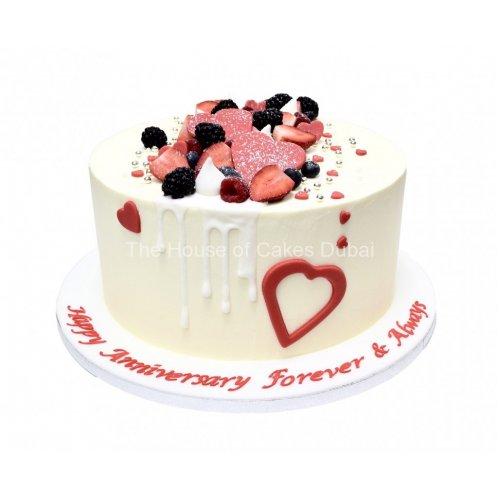 Anniversary Valentine Love theme cake