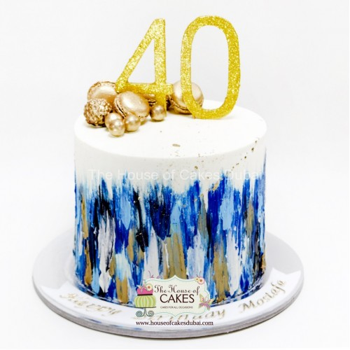 Outstanding Trendy 40Th Birthday Cake Funny Birthday Cards Online Fluifree Goldxyz