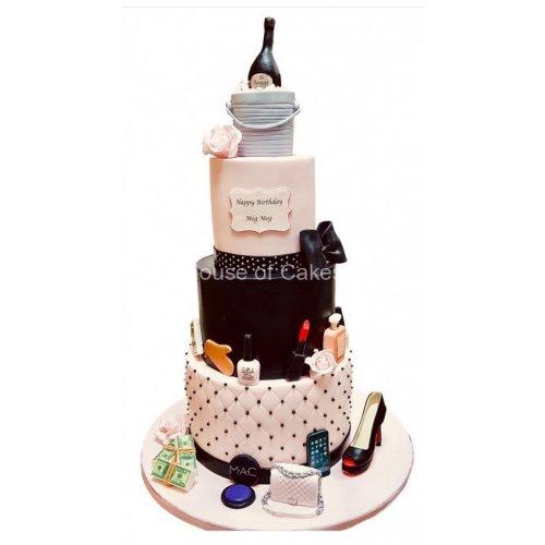 Fashionista favorite things cake