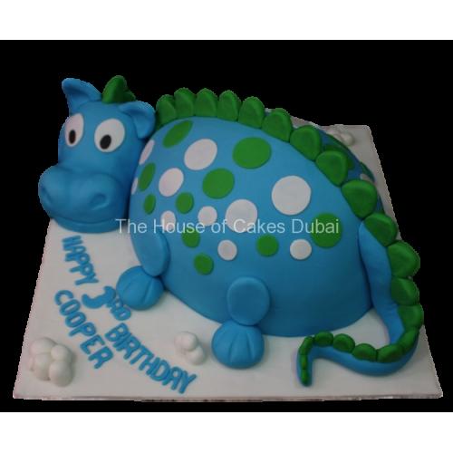 Cute Dinosaur Cake