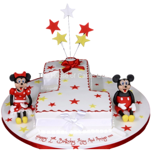 First Birthday Cake Mickey and Minnie Mouse
