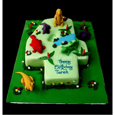 Dinosaurs cake 1