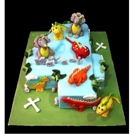 Dinosaurs cake 3